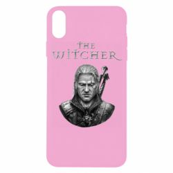 Чехол для iPhone X/Xs The witcher art black and gray