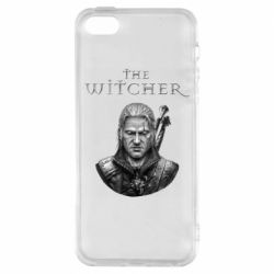 Чехол для iPhone5/5S/SE The witcher art black and gray