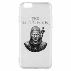 Чехол для iPhone 6/6S The witcher art black and gray
