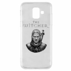 Чехол для Samsung A6 2018 The witcher art black and gray