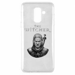 Чехол для Samsung A6+ 2018 The witcher art black and gray