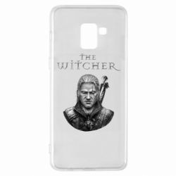 Чехол для Samsung A8+ 2018 The witcher art black and gray