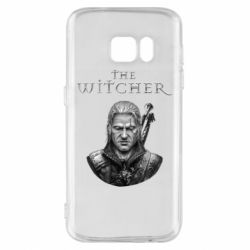 Чехол для Samsung S7 The witcher art black and gray