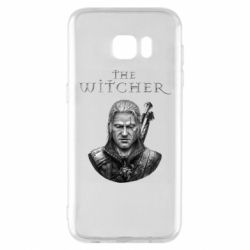 Чехол для Samsung S7 EDGE The witcher art black and gray
