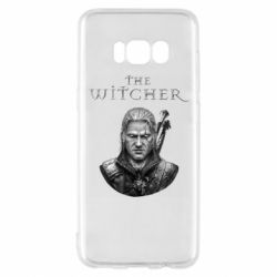 Чехол для Samsung S8 The witcher art black and gray