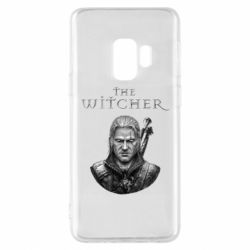 Чехол для Samsung S9 The witcher art black and gray
