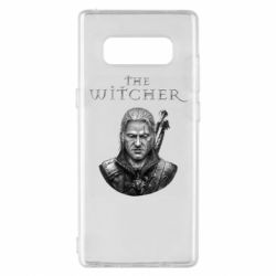 Чехол для Samsung Note 8 The witcher art black and gray
