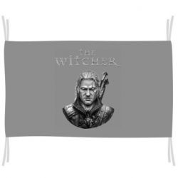 Флаг The witcher art black and gray