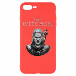 Чехол для iPhone 8 Plus The witcher art black and gray