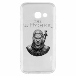 Чехол для Samsung A3 2017 The witcher art black and gray