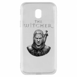 Чехол для Samsung J3 2017 The witcher art black and gray