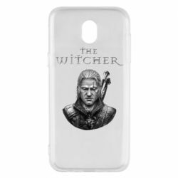 Чехол для Samsung J5 2017 The witcher art black and gray