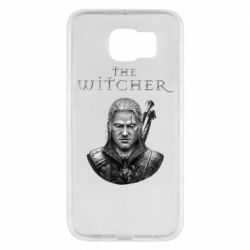 Чехол для Samsung S6 The witcher art black and gray