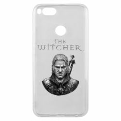 Чехол для Xiaomi Mi A1 The witcher art black and gray