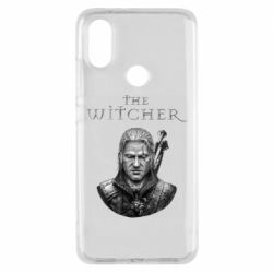 Чехол для Xiaomi Mi A2 The witcher art black and gray