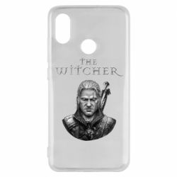 Чехол для Xiaomi Mi8 The witcher art black and gray