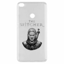 Чехол для Xiaomi Mi Max 2 The witcher art black and gray