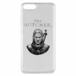 Чехол для Xiaomi Mi Note 3 The witcher art black and gray