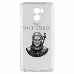 Чехол для Xiaomi Redmi 4 The witcher art black and gray