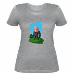 Женская футболка The witcher chibi