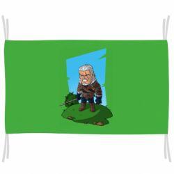 Флаг The witcher chibi