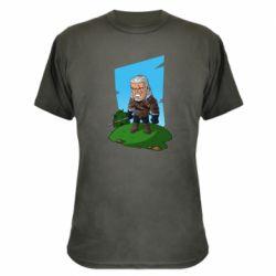 Камуфляжная футболка The witcher chibi