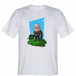 Мужская футболка The witcher chibi