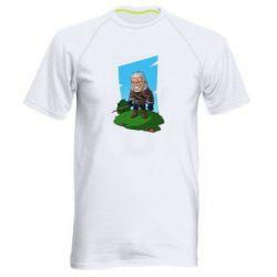 Мужская спортивная футболка The witcher chibi