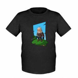 Детская футболка The witcher chibi