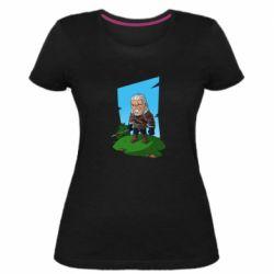Женская стрейчевая футболка The witcher chibi