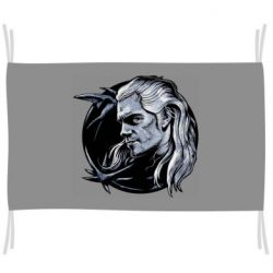 Флаг The Witcher in profile art