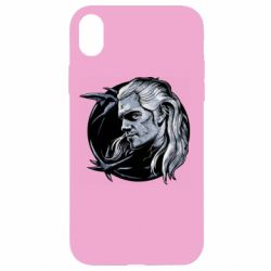 Чехол для iPhone XR The Witcher in profile art