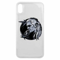 Чехол для iPhone Xs Max The Witcher in profile art