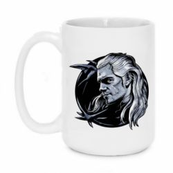 Кружка 420ml The Witcher in profile art