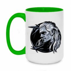 Кружка двухцветная 420ml The Witcher in profile art