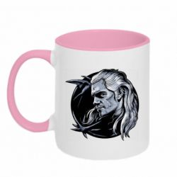 Кружка двухцветная 320ml The Witcher in profile art
