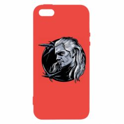 Чехол для iPhone5/5S/SE The Witcher in profile art