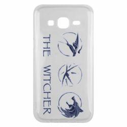 Чехол для Samsung J5 2015 The witcher pendants