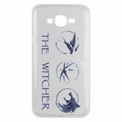 Чехол для Samsung J7 2015 The witcher pendants