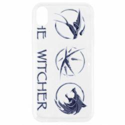 Чехол для iPhone XR The witcher pendants