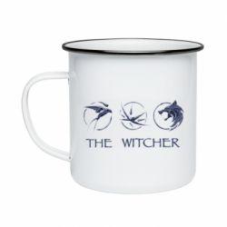 Кружка эмалированная The witcher pendants