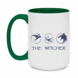 Кружка двухцветная 420ml The witcher pendants
