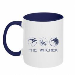 Кружка двухцветная 320ml The witcher pendants