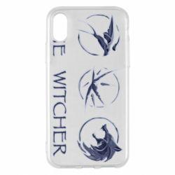 Чехол для iPhone X/Xs The witcher pendants
