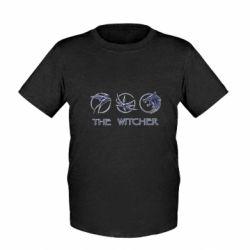 Детская футболка The witcher pendants