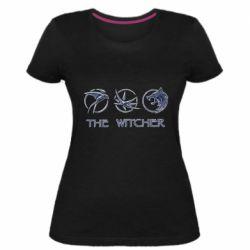 Женская стрейчевая футболка The witcher pendants