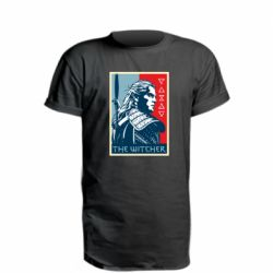 Удлиненная футболка The witcher poster