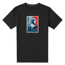 Мужская стрейчевая футболка The witcher poster