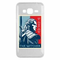 Чехол для Samsung J3 2016 The witcher poster