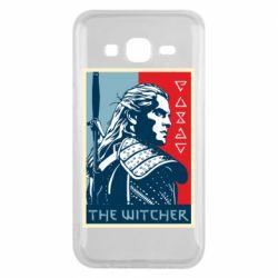 Чехол для Samsung J5 2015 The witcher poster